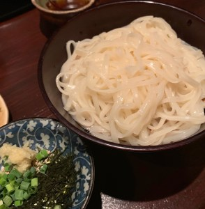 渋谷「うのさと」の稲庭うどん