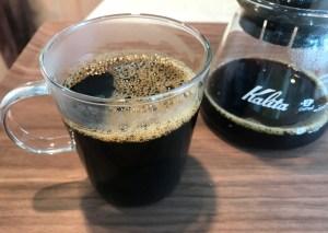 224porcelainのセラミックフィルターで淹れたコーヒー