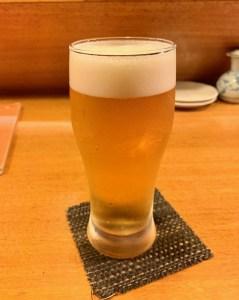 自由が丘「川目」のビール