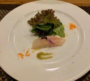 中目黒のイタリアン「ビストロK」の真鯛の瞬間燻製
