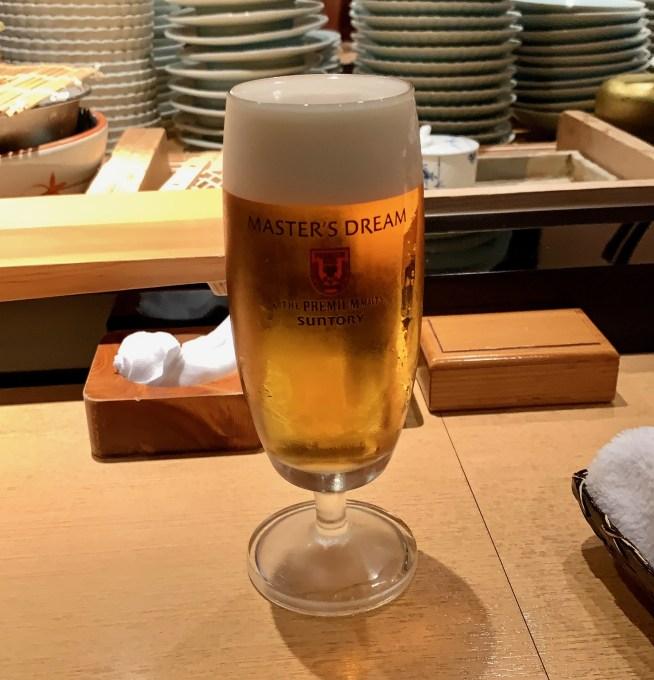富山「鮨人 (すしじん)」生ビール