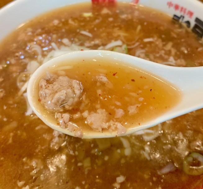 宮崎台「北京」の担々麺スープ