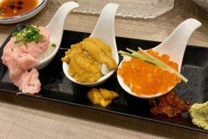 渋谷マークシティ「梅丘寿司の美登利総本店」の「こぼれづくし」