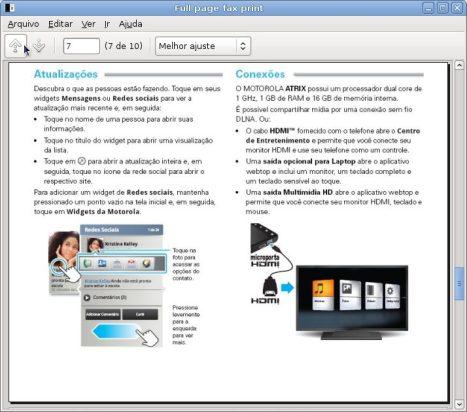 Captura de tela Full page fax print 1 - Review: Motorola Atrix (primeiras impressões)