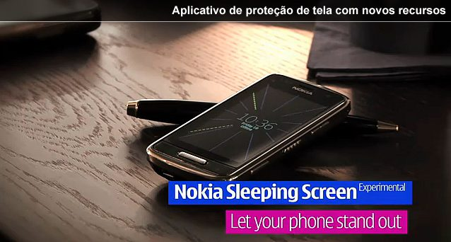 Nokia Sleeping Screen - Aplicativo Nokia Sleeping para smartphones Symbian^3