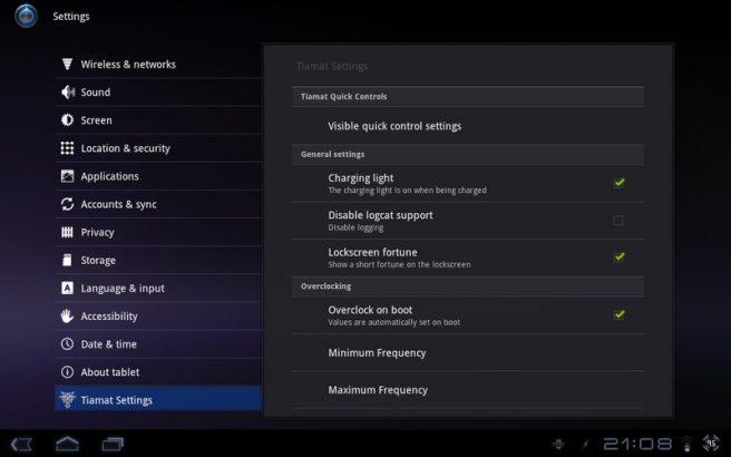 device 2011 09 08 210914 - Motorola XOOM: nova atualização da ROM Tiamat 2.2 (Android Honeycomb 3.2.2)