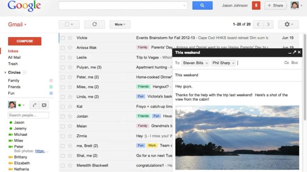 Google adiciona novos recursos ao Gmail 7