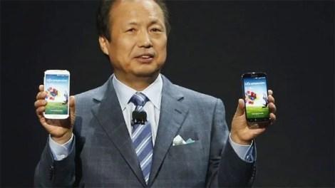Galaxy S4 o CEO da Samsung J. K. Shin - CEO da Samsung afirma que dispositivos Windows vendem pouco, o mercado prefere Android