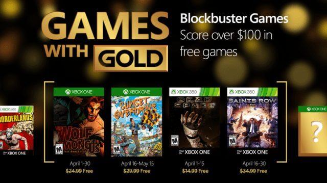 xbox games with gold april 2016 live abril 2016 - Games with Gold: jogos grátis na live para abril de 2016
