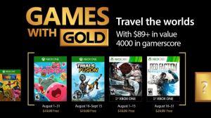 Games with Gold: jogos grátis na Live para agosto de 2017