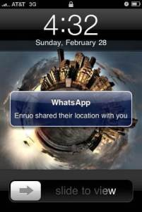 "whatsapp share location push notification - Envie ""SMSs"" gratuitas com o WhatsApp! (Android, Symbian-Nokia, iPhone, Blackberry)"