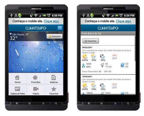 Climatempo android aplicativo - Climatempo lança aplicativo para smartphones Android
