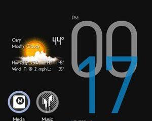 d3 clockwidg thumb1 - Widget de relógio Cowon para smartphones Android