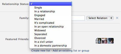 screen huffpost status facebook - Facebook adiciona dois novos status de relacionamento