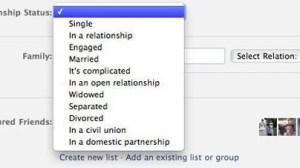 Facebook adiciona dois novos status de relacionamento 9