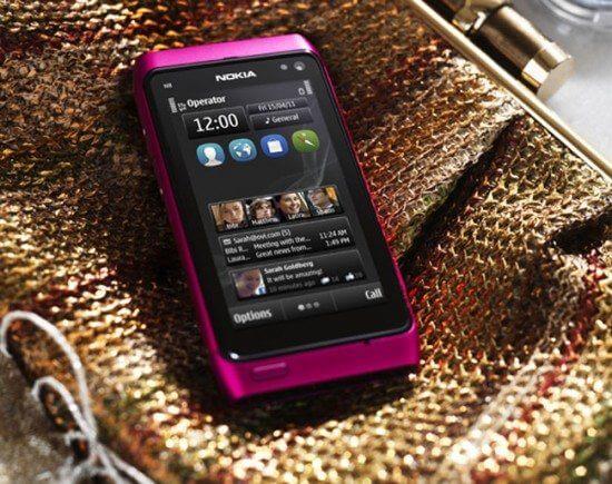 Nokia N8 Pink version comes with Symbian Anna Update 550x435 - Vídeo: Nokia N8 rodando o novo sistema Symbian Anna