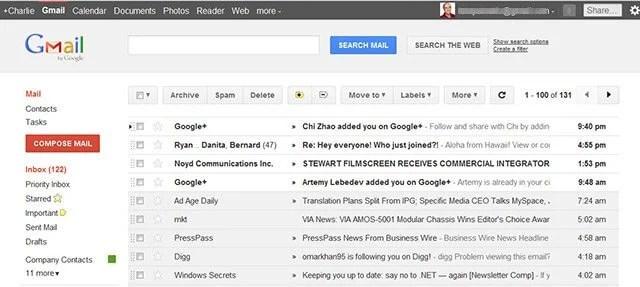 gmailnew gmail+ - Gmail e Google Agenda de cara nova