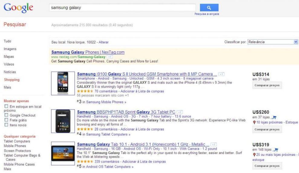 Google Shopping estréia no Brasil 4