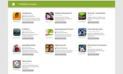10 Billion Promo Android Market - Android Market comemora o download de 10 bilhões de aplicativos