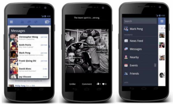 facebook android app e1323345775501 - Facebook para o Android ganha nova atualização