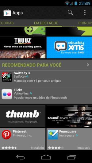 """apps play - Google Play coleta informações do usuário para nova """"Sessão de Recomendações"""""""