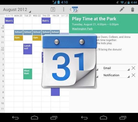 GoogleAgendaCalendar - Google Agenda ganha aplicativo para o Android