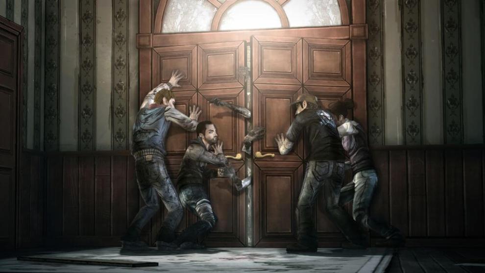 screen twd seasonfinale doorbreach - The Walking Dead - Episode I disponível gratuitamente na Xbox Live americana!