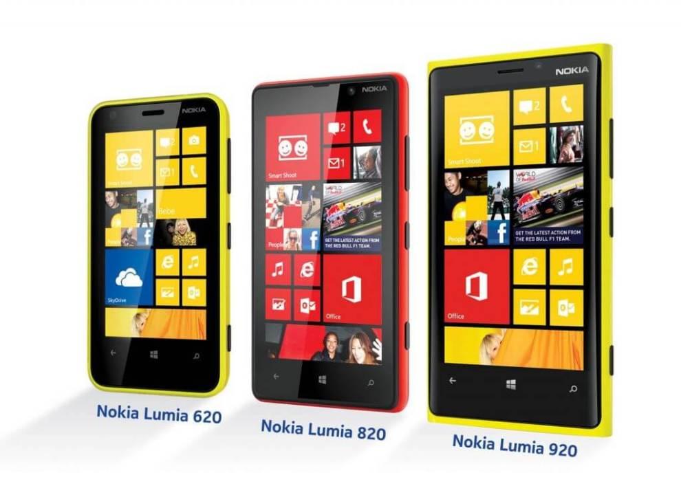 Nokia Lumia - Nokia oficializa chegada de três aparelhos Lumia com Windows Phone 8