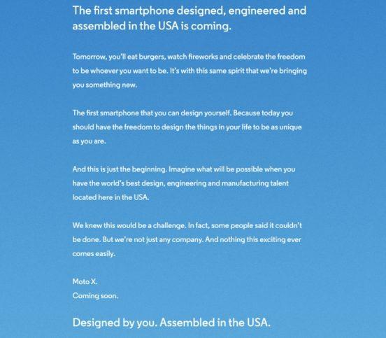 Propaganda do Moto X que será produzido pela Motorola