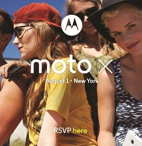 Convite para lançamento do smartphone Moto X no dia 01 de agosto