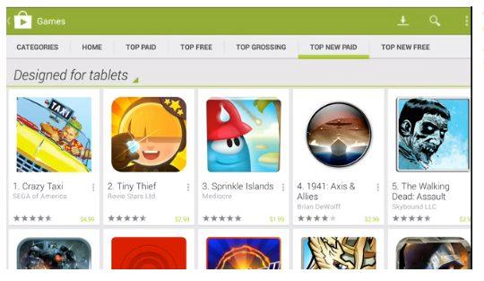 play for tablets - Google apresenta o Android 4.3, novo Nexus 7, ChromeCast e outras novidades