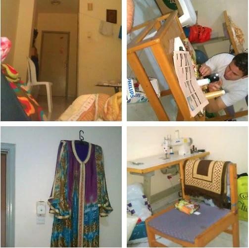 O apartamento do ladrão e o trabalho como alfaiate / reprodução