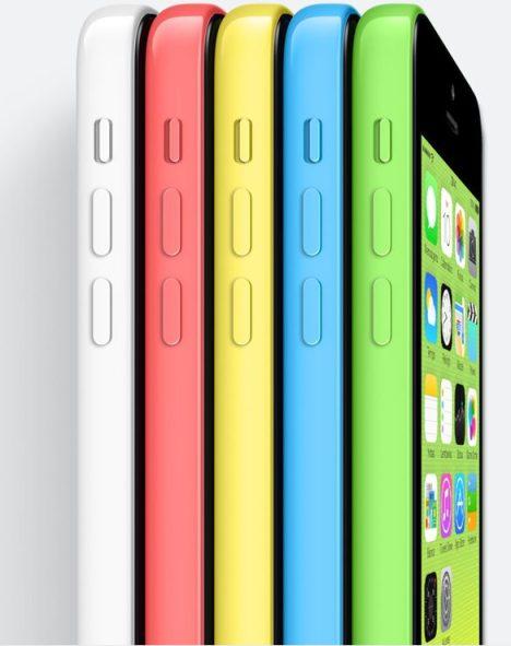 Novo iPhone 5c tem 5 opções de cores