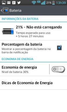Duração da bateria do LG Optimus l7 II