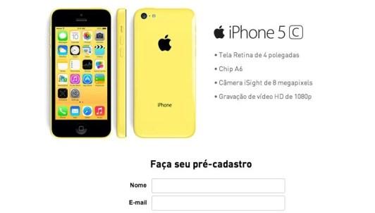 Pré-cadastro Claro para venda dos novos iPhones / reprodução