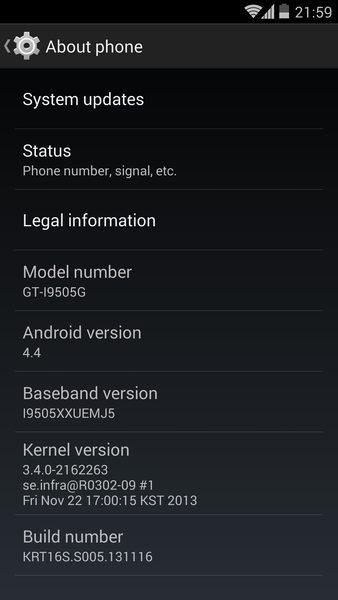 Galaxy S4 LTE GT i9505 ganha ROM com Android 4.4 KitKat Google Edition - Galaxy S4 LTE (GT-i9505) ganha ROM com Android 4.4 KitKat Google Edition