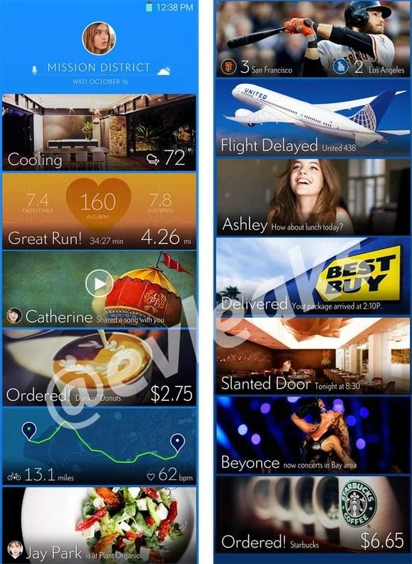 Samsung Galaxy S5 tela inicial