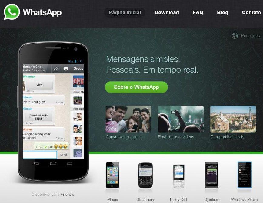 WhatsApp é um sistema de mensagens instantâneas para smartphones / Reprodução / WhatsApp