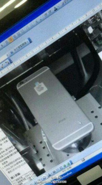 Foto do suposto iPhone 6 divulgada em um site chinês / reprodução