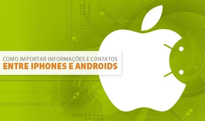 Sincronização transferência Android iOS iPhone