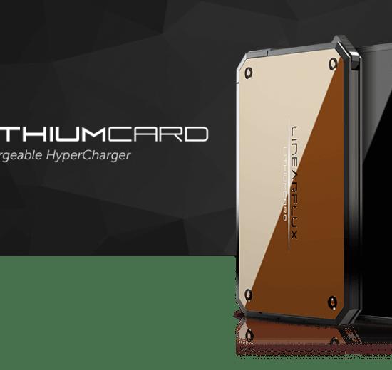 Lithiumcard - LithiumCard é uma bateria ultra-rápida para carregar na carteira