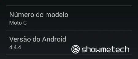 Moto G 4.4.4 - Showmetech