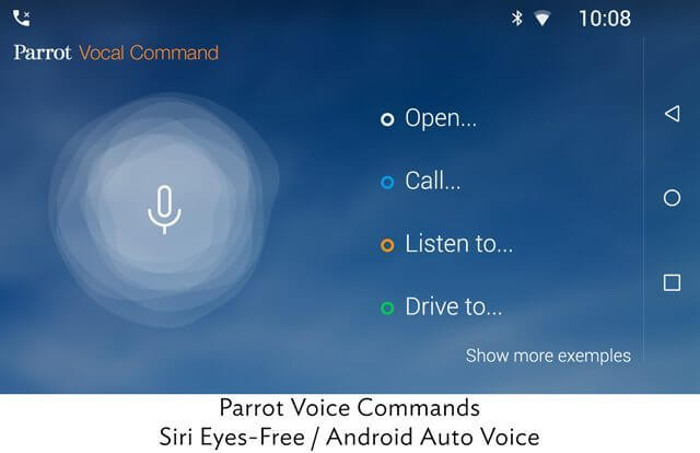 Parrot_RNB6_voice_commands_siri_android_auto