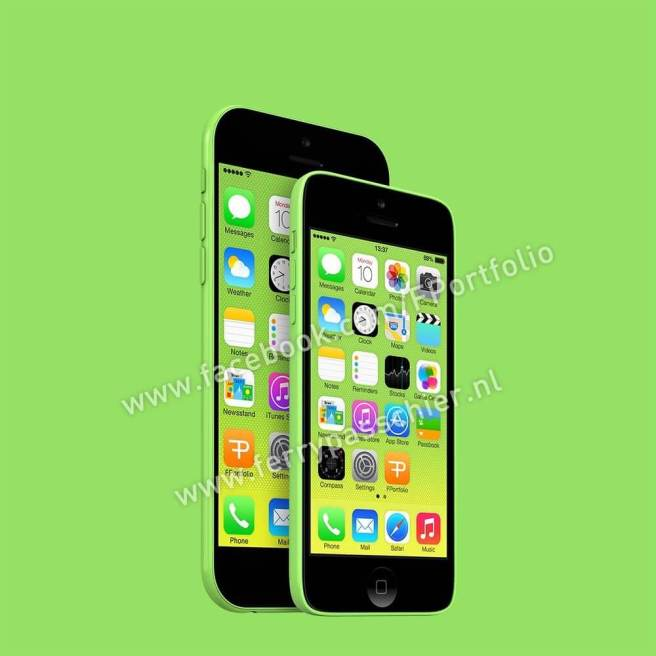 Iphone 6c front green compare