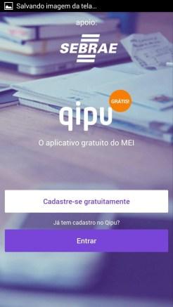 Qipu - Aplicativo para MEI - Tela inicial