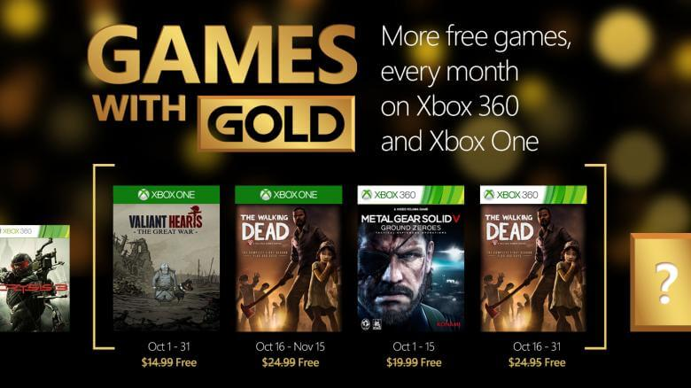 2941982 october - Games with Gold: Outubro 2015