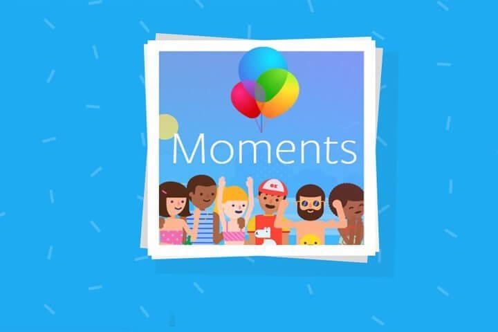 Envie fotos da galeria para seus amigos do Facebook com o Moments 8