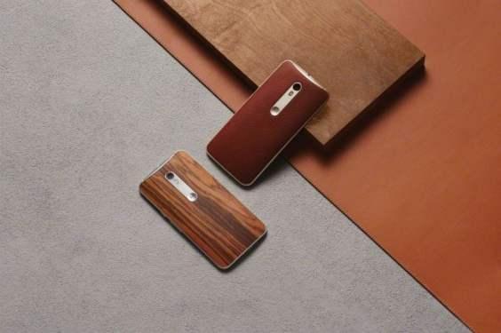 Moto x style wood leather backs