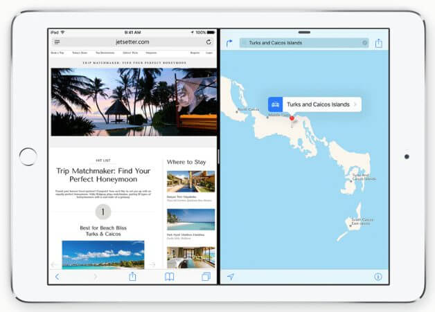 modo Split View para os iPads