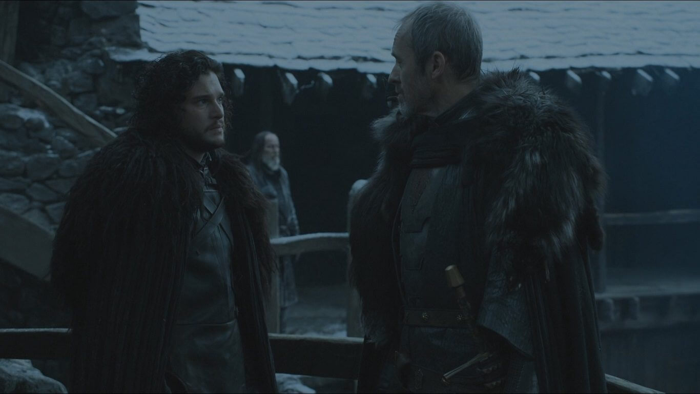 jon says farewell to stannis - Fim da dúvida: Game of Thrones confirma a morte de certo personagem